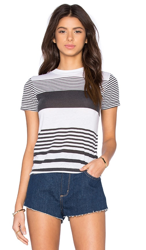 ROLLA'S Yatch Stripe Tee in Black