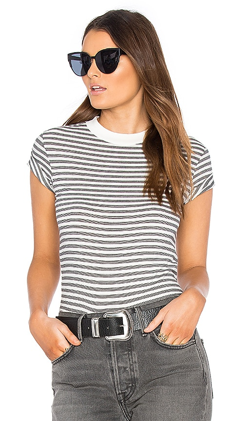 ROLLA'S Old Mate Stripe Tee in Black & White