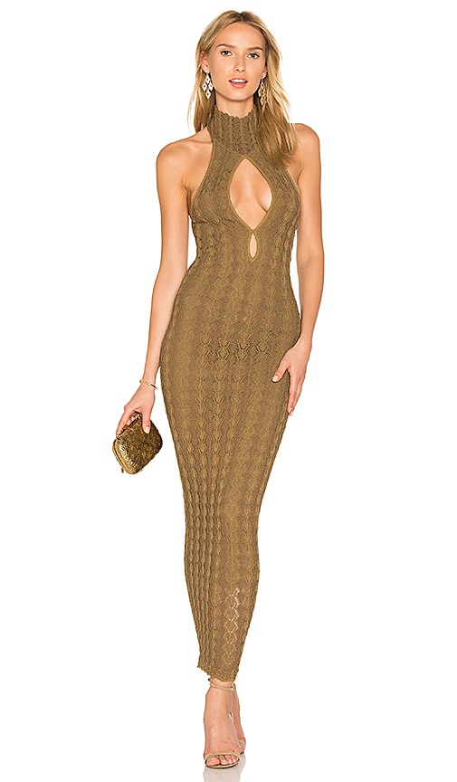Ronny Kobo Sybil Maxi Dress in Olive