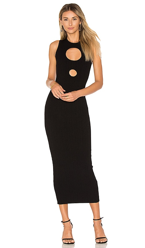 Ronny Kobo Julianne Maxi Dress in Black
