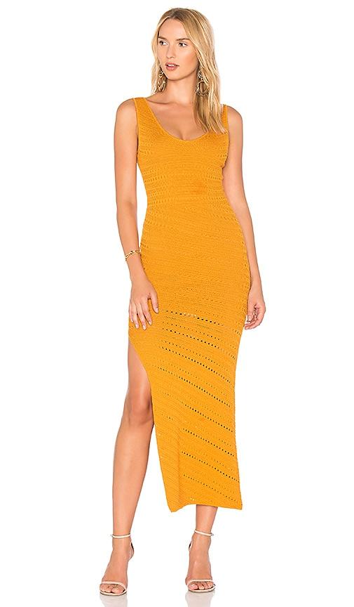ca42e09a9d Ronny Kobo Ciera Bias Crochet Dress in Yellow   REVOLVE