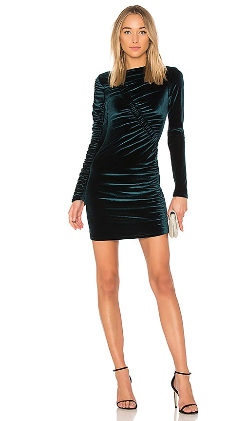 Ronny Kobo Yarden Velvet Dress in Teal