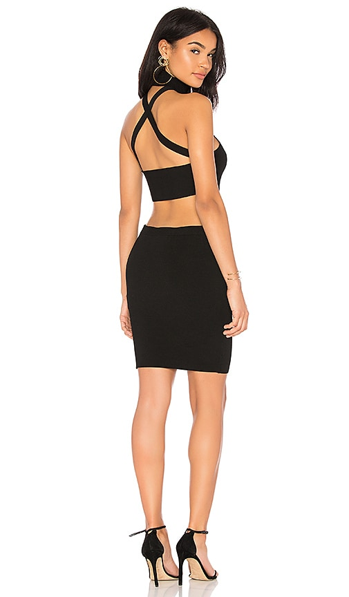 Ronny Kobo Lisa Halter Dress in Black