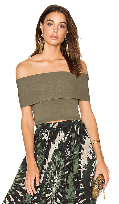 Ronny Kobo Maarit Crop Top in Green