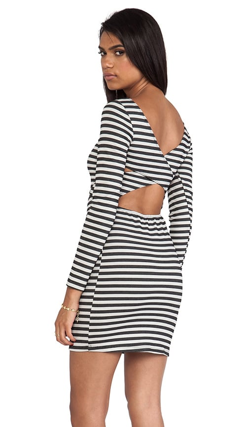 Bridge Stripe Cross Back Dress