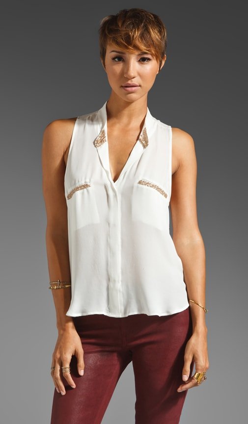 Sydney Rose Gold Bead Detail Tank