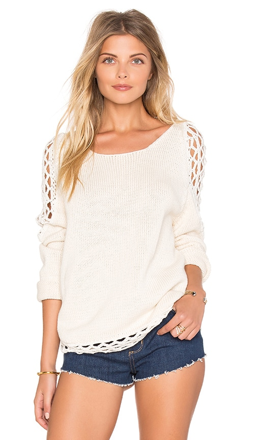 Rove Swimwear Wren Sweater in Ivory