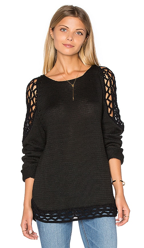 Rove Swimwear Wren Sweater in Black