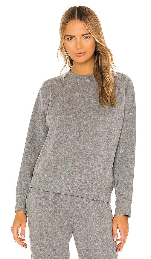 Richer Poorer Crewneck Fleece Sweatshirt - L - Also In: Xl, M, Xs, S In Heather Grey