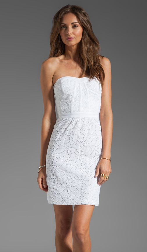 Eyelet Strapless Dress