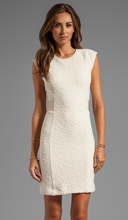 Boucle Detailed Sheath Dress