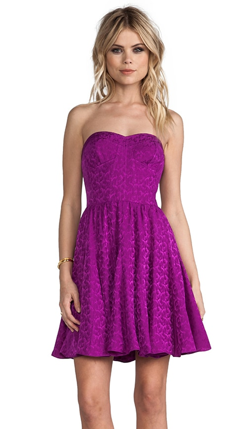 Textured Strapless Dress