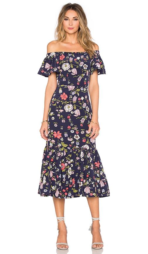 Off The Shoulder Tapestry Garden Dress