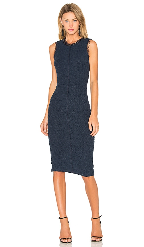 Rebecca Taylor Sleeveless Boucle Shift Dress in Blue