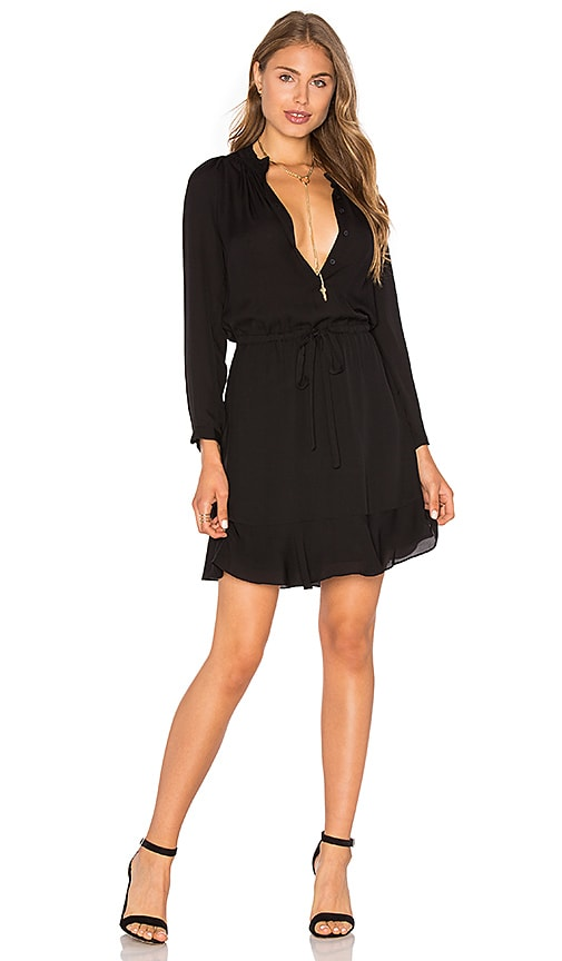 Rebecca Taylor Shirt Dress in Black