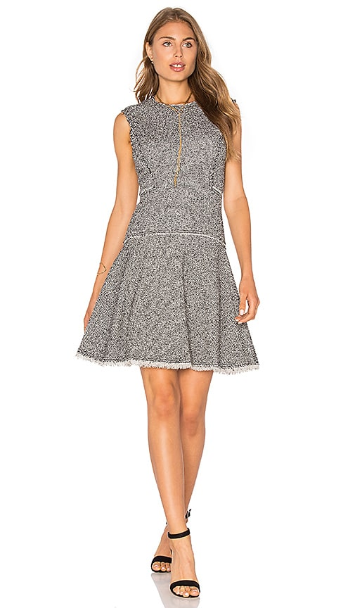 Rebecca Taylor Stretch Tweed Dress in Black