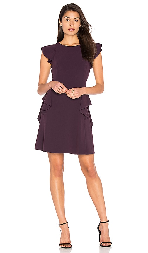Rebecca Taylor Ruffle Dress in Purple
