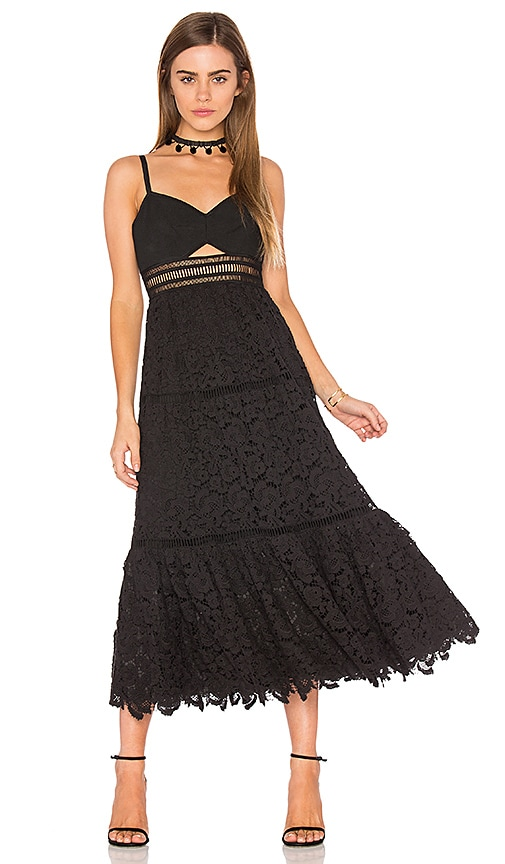 Rebecca Taylor Sleeveless Lace Dress in Black