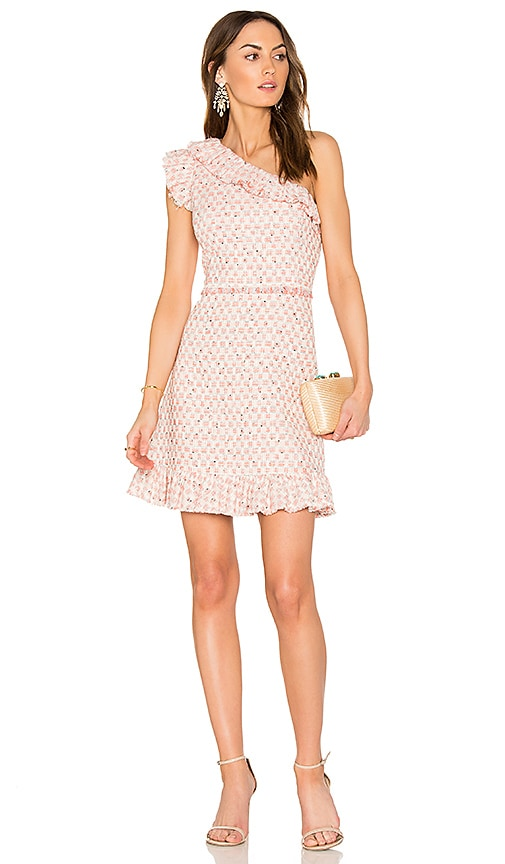 Rebecca Taylor Multi Tweed Dress in Pink