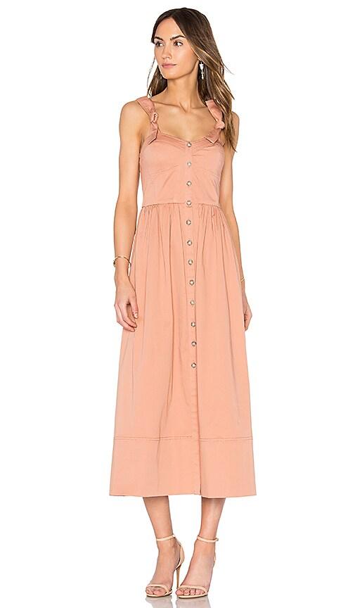 Rebecca Taylor Midi Dress in Peach