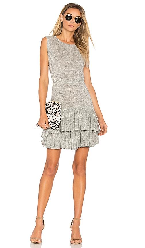 Rebecca Taylor Ruffle Mini Dress in Gray