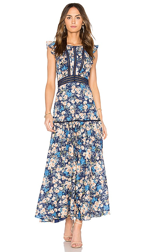 Rebecca Taylor Gigi Midi Dress in Navy