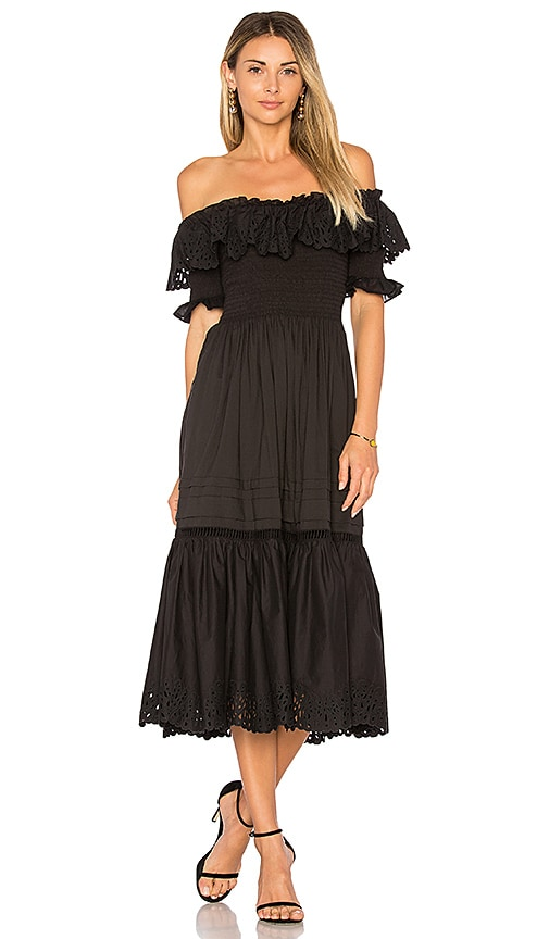 Off Shoulder Nouveau Eyelet Dress Rebecca Taylor