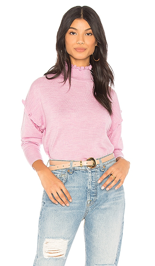 Rebecca Taylor Merino Wool Sweater in Lavender