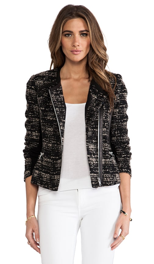Boucle and Leather Blazer