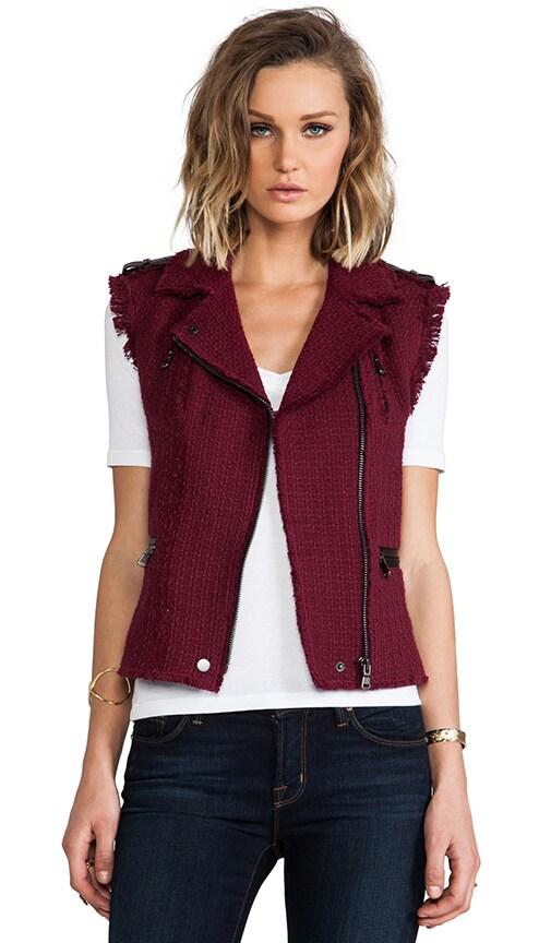 Tweed Moto Vest