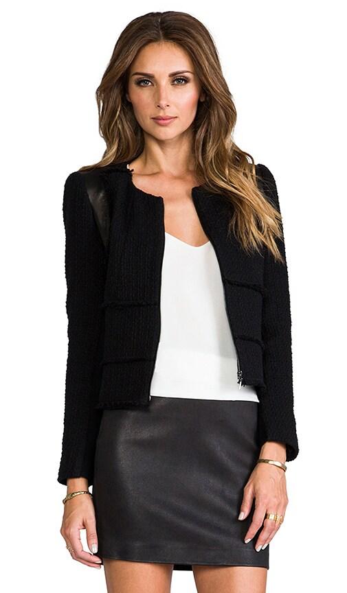 Patched Tweed Jacket