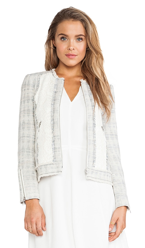 Mixed Tweed & Lace Jacket