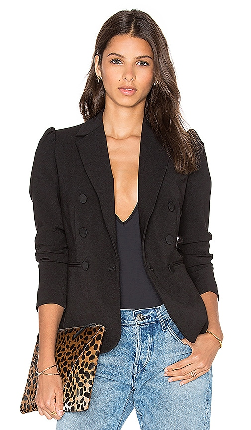 Rebecca Taylor Suiting Blazer in Black