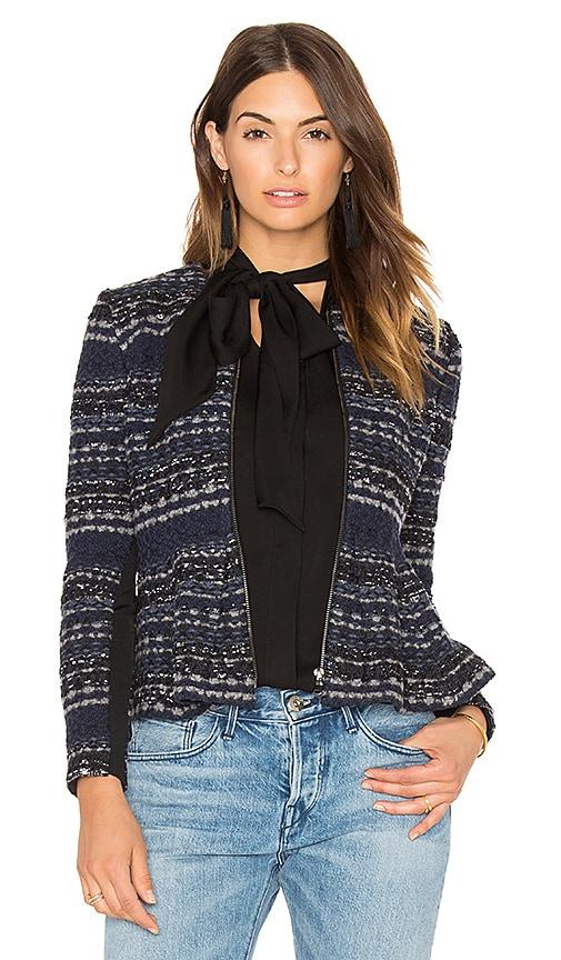 Rebecca Taylor Lurex Tweed Jacket in Blue