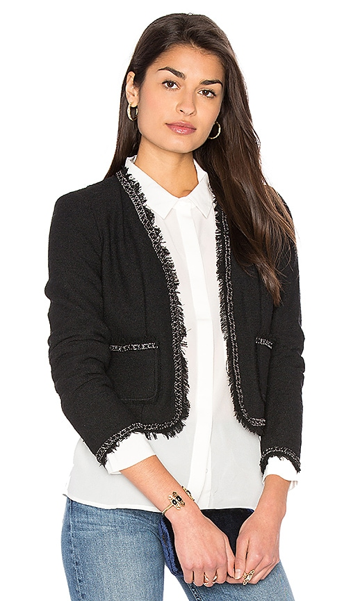 Rebecca Taylor Boucle Jacket in Black