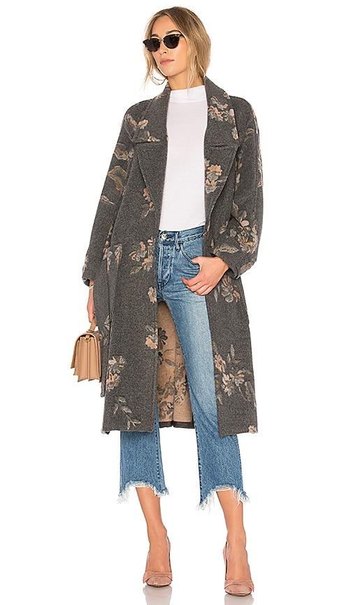Rebecca Taylor Jacquard Coat in Gray