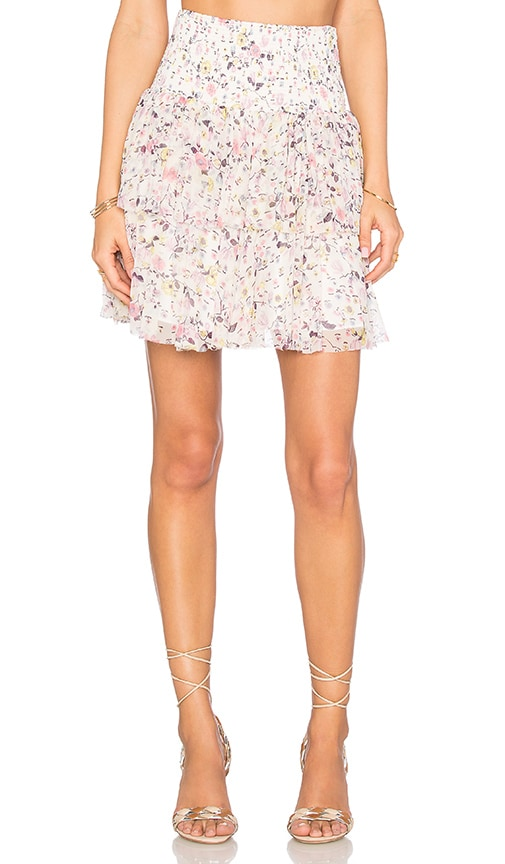 Rebecca Taylor Tapestry Garden Skirt in Creamsicle