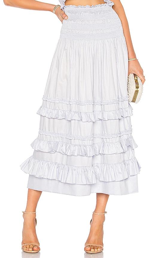 Rebecca Taylor Cotton Midi Skirt in Lavender
