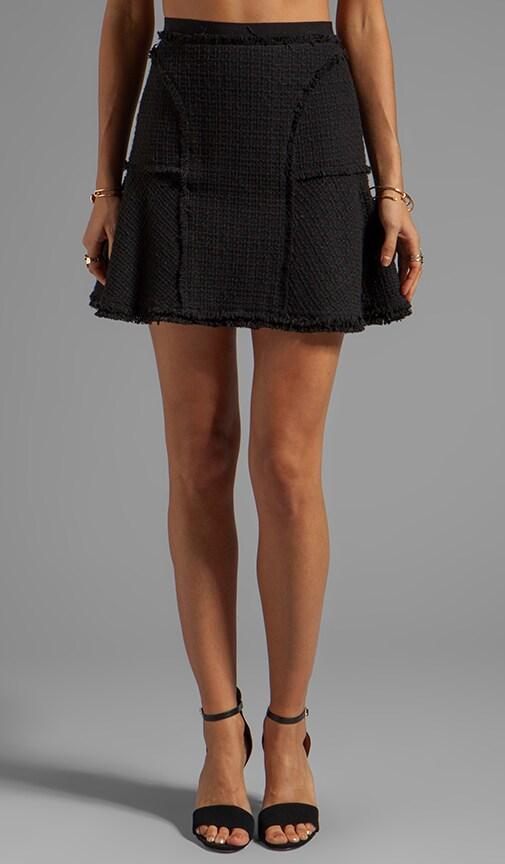 Tweed Flounce Skirt