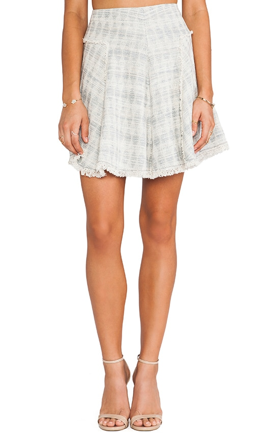 Mixed Tweed & Lace Skirt