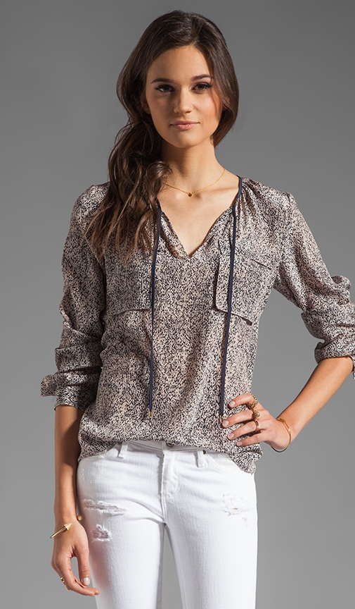 Static Print Blouse