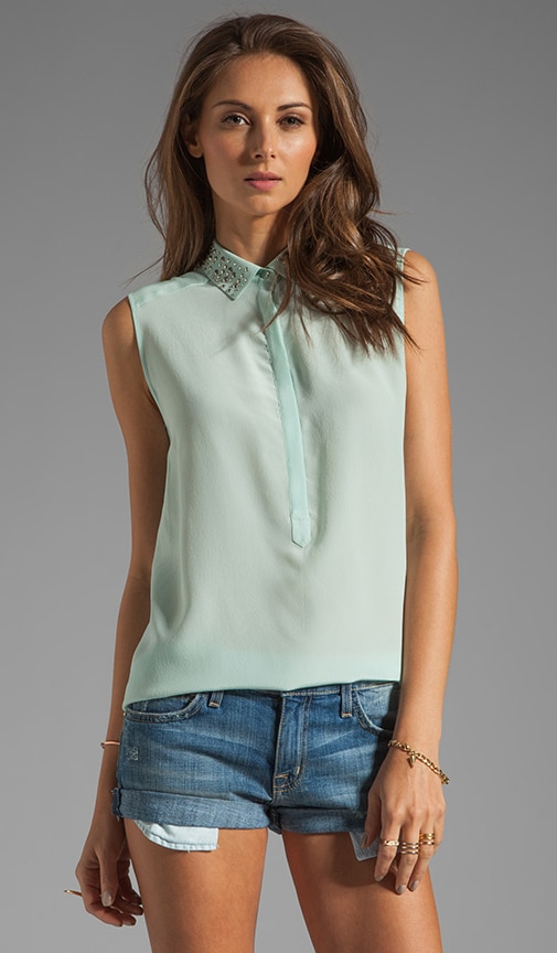 Beaded Collar Top