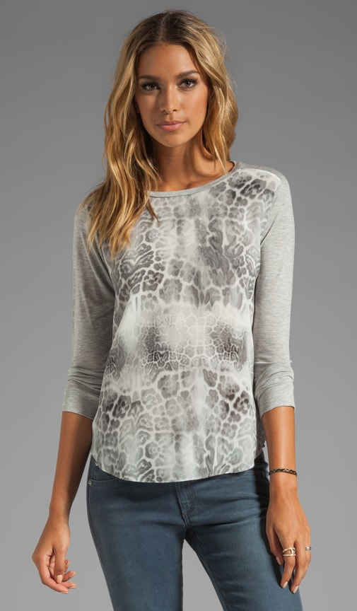 Animal Printed Long Sleeve Tee