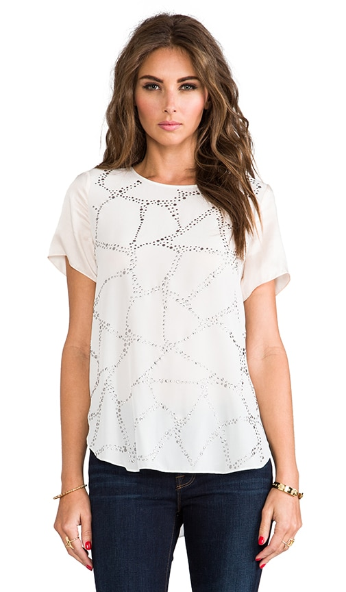 Embellished Silk Tee