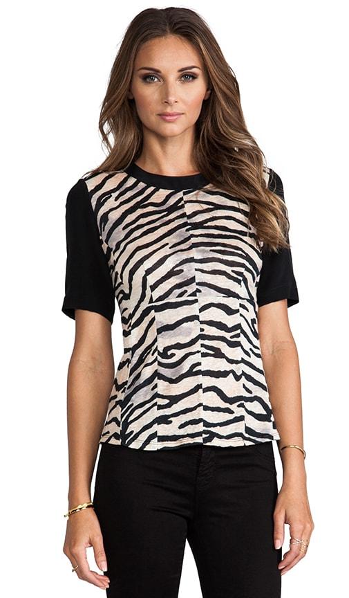 Tiger Print Jersey Combo Top