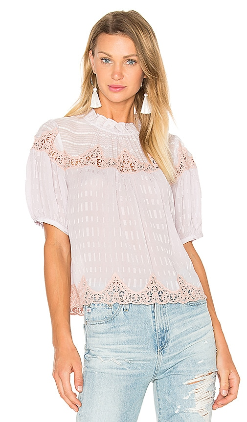 Short Sleeve Clip Mix Top