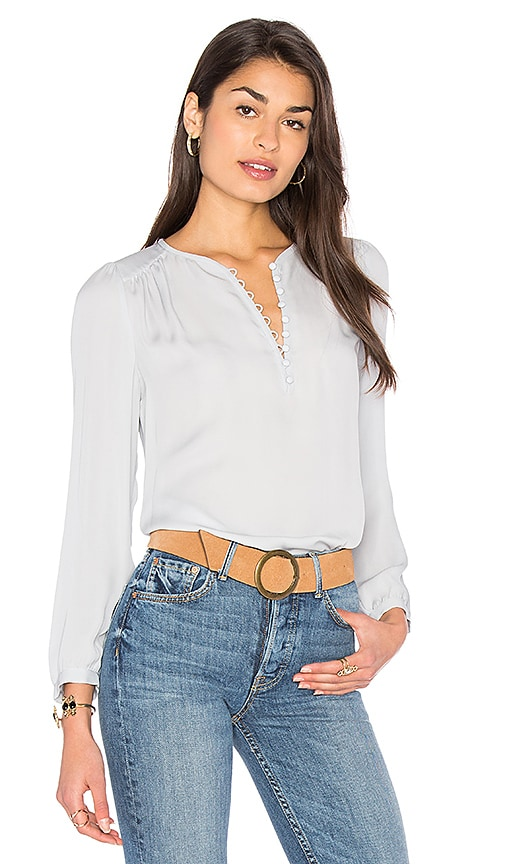 Rebecca Taylor Button Top in Baby Blue