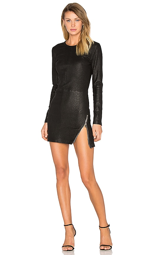 RtA Yves Leather Dress in Black
