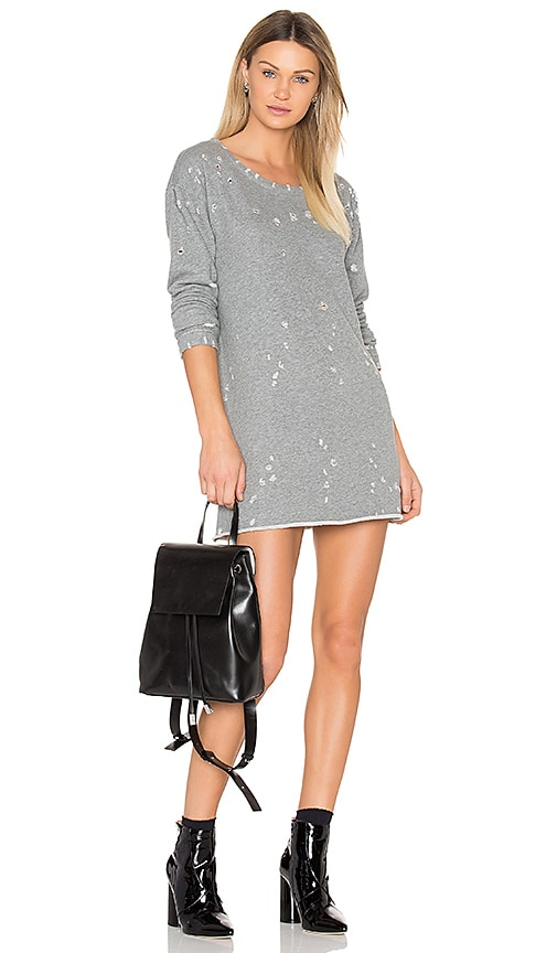 RtA Veronique Sweatshirt Dress in White