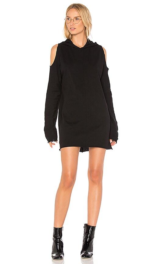 RtA Joelle Sweatshirt Dress in Black